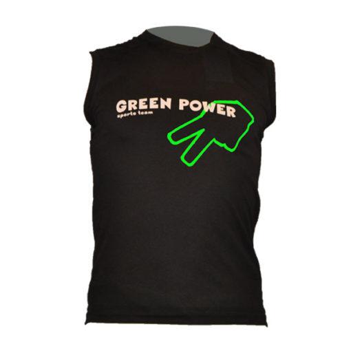 camiseta sin mangas green power