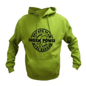 Sudadera capucha verde