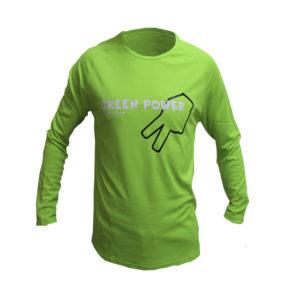 Camiseta verde manga larga