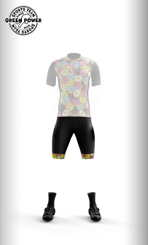 Culotte Donuts ciclismo Green power